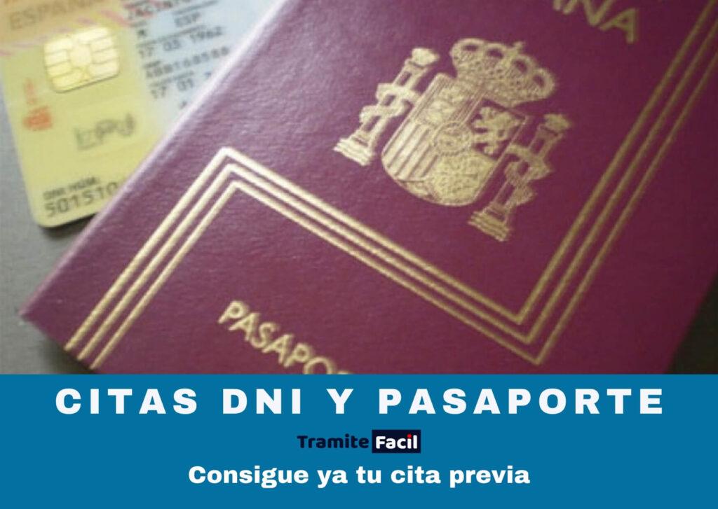 Citas DNI y pasaporte