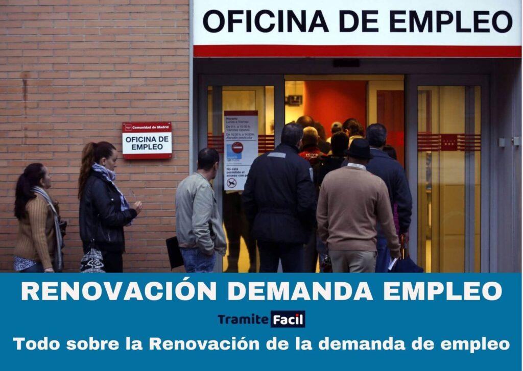 Renovación de la demanda de empleo
