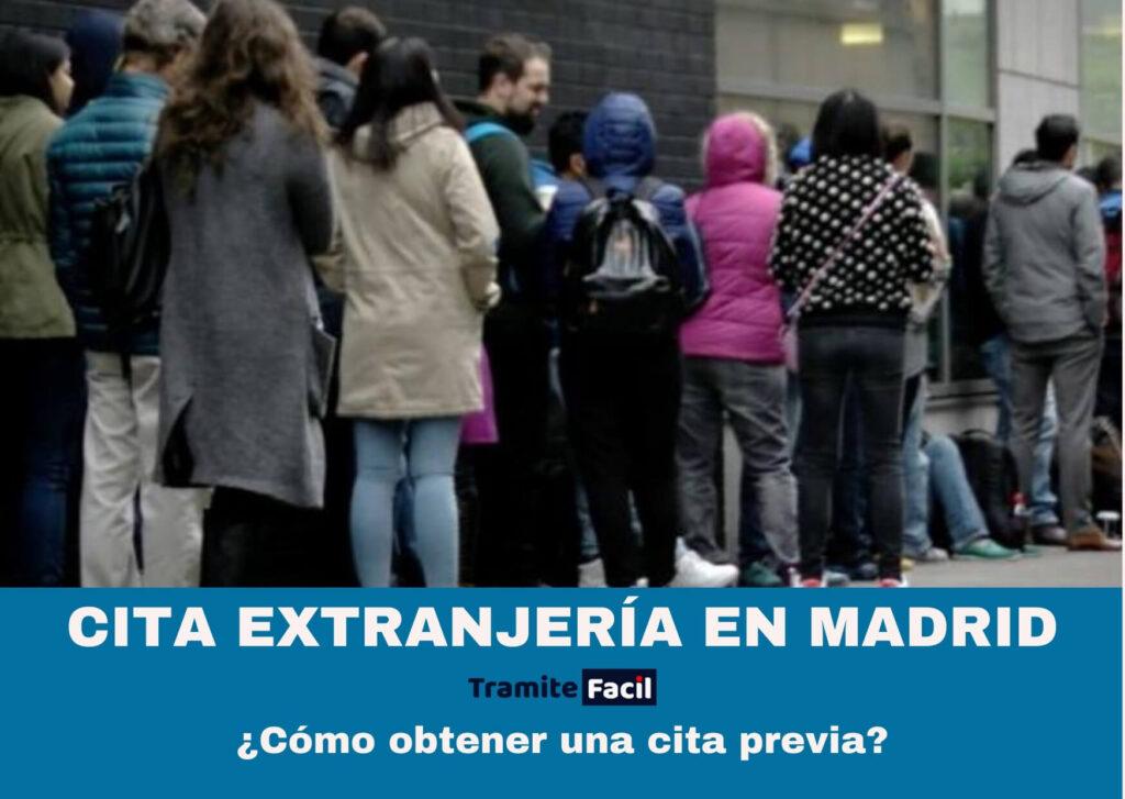 Cita previa Extranjería Madrid